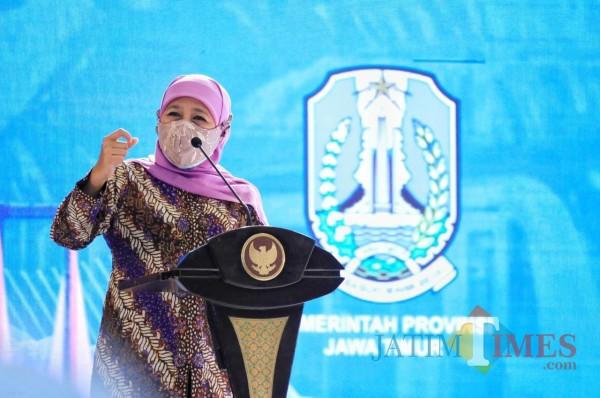 Gubernur Jatim Khofifah. (Foto: Dokumen JatimTIMES)