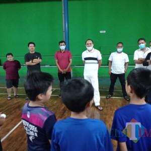Mantan Ketua REI Malang Heri Mursid Motivasi Atlet Bulutangkis di Masa Pandemi