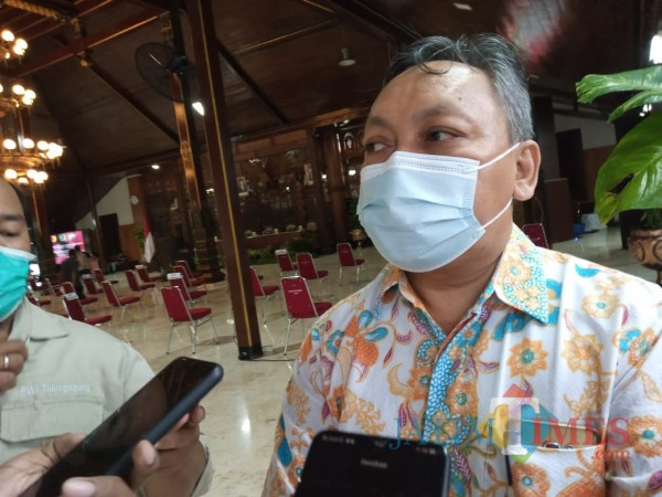 Jubir Gugus Tugas Percepatan Penanganan Covid- 19 Tulungagung, Kasil Rokhmad (Joko Pramono/ JatimTIMES)