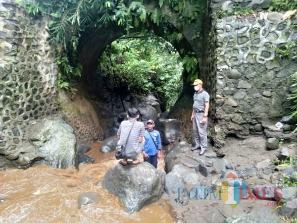 Lokasi jembatan Kalibendo (Sasak Jukung) desa Kampung Anyar kecamatan Glagah Banyuwangi Nurhadi Banyuwangi Jatim Times