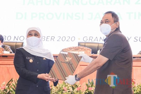 Pjs Bupati Blitar Terima DIPA dan TKDD Tahun 2021