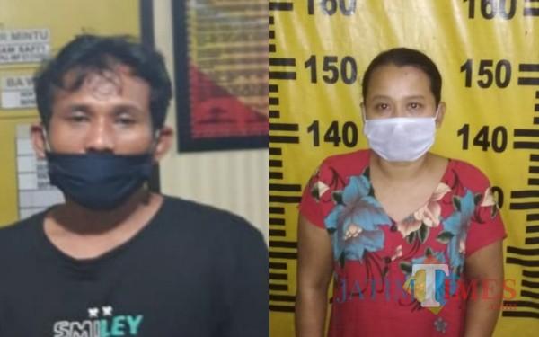 Agus dan Astri tersangka pencurian hp di RSUD dr Iskak Tulungagung / Foto : Dokpol / Tulungagung TIMES
