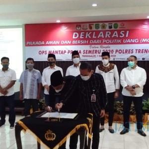 Amankan Situasi Pilkada, Polres Trenggalek Gelar Deklarasi