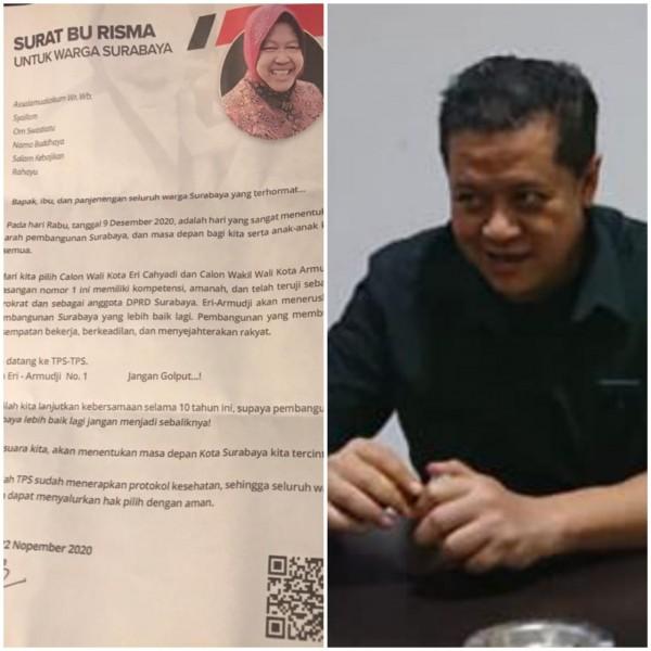 Surat yang dikirim Tri Rismaharini mendapat komentar dari Mas Seno