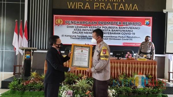 Polresta Banyuwangi Raih Penghargaan Promoter Reward dari Lemkapi