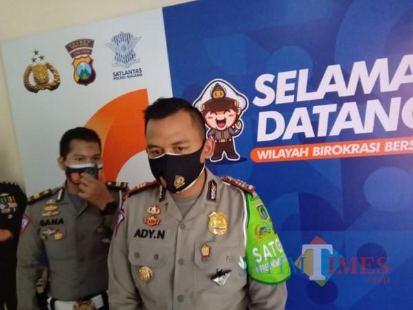 Kasat Lantas Polres Malang, AKP Ady Nugroho saat ditemui awak media beberapa waktu lalu. (Foto: Dok. JatimTimes)