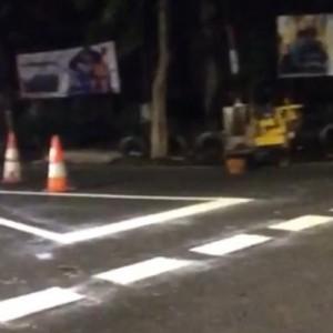 Persimpangan Jalan Kota Malang Ada Marka Segitiga, Ini Fungsinya