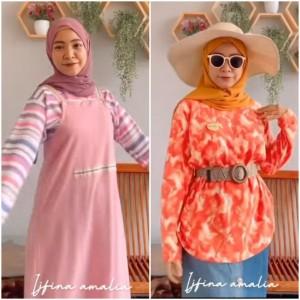 Trik Styling Kaus Oblong Jadi Outfit Lebih Modis Ala Hijabers Ijfina Amalia