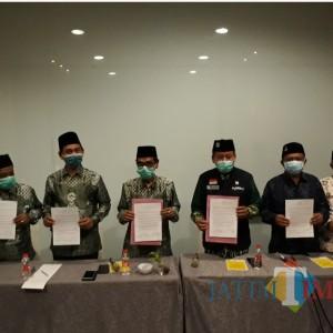 Jelang Pencoblosan, PCNU dan PD Muhammadiyah Surabaya Gelar Deklarasi Damai