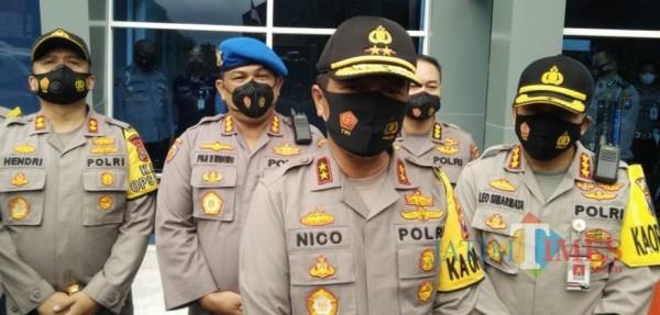 Kapolda Jatim Irjen Nico Afinta saat ditemui usai memberikan arahan di Polresta Malang Kota (Anggara Sudiongko/ MalangTIMES)