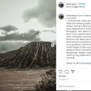 Ingin Bahagiakan Orangtua, Peserta Tsunami 1.260 Unggah Foto Keindahan Gunung Bromo