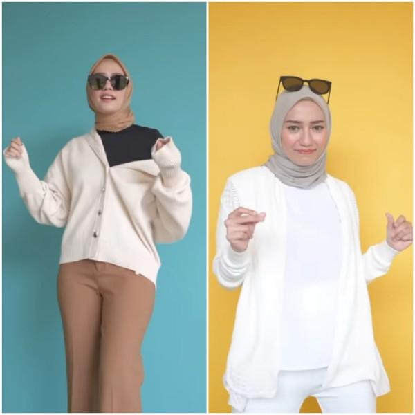 Syling busana aneka sweater ala influencer Mega Iskanti. (Foto: Instagram @megaiskanti).