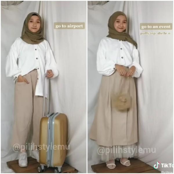 Style atasan warna putih untuk berbagai kegiatan ala influencer Citra M R. (Foto: Instagram @pilihsylemu).