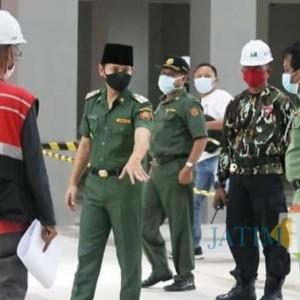 Pembangunan Pasar Pon Tahap Finishing, Bupati Trenggalek Ingin Awal Tahun Bisa Ditempati Pedagang