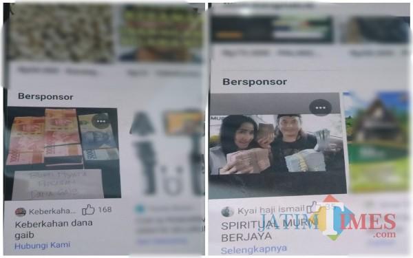Capture gambar iklan bersponsor di Facebook terkait hal yang di luar nalar(Anggara Sudiongko/MalangTIMES)
