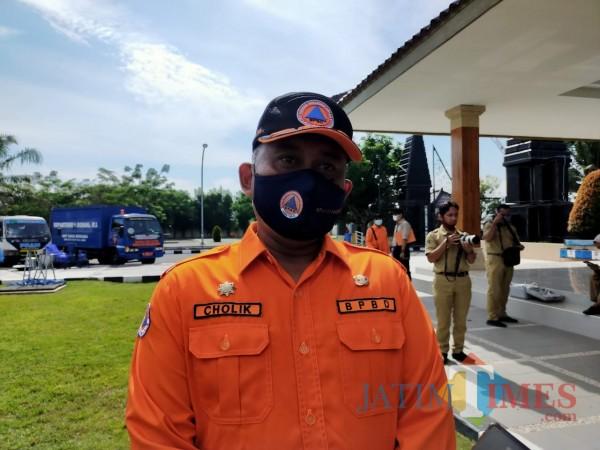 Kepala Pelaksana BPBD Kabupaten Blitar, Achmad Cholik