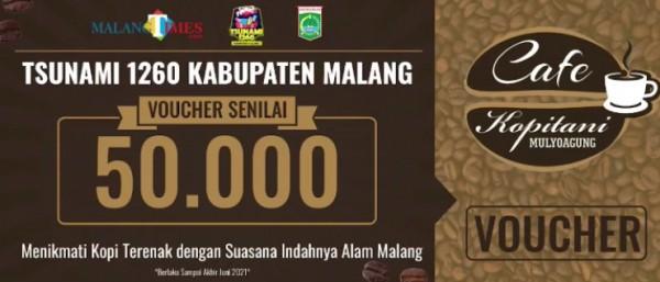 Voucher Cafe Kopitani di Jalan TPST, Jetak Lor, Desa Mulyoagung Kecamatan Dau,Kabupaten Malang.