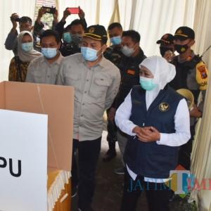 Gubernur Jatim Tinjau TPS 008 Desa Manduro Manggung Gajah Kecamatan Ngoro