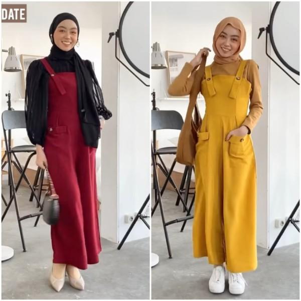 Mix and Match overall outfit jadi berbagai busana di segala acara ala Hijabers Meirani Amelia. (Foto: Instagram @meiraniap).