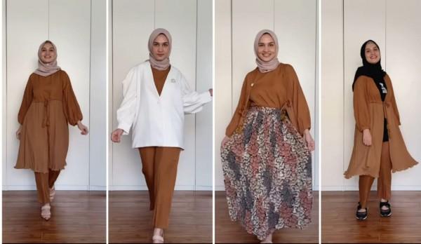 Styling set outfit jadi beragam model busana ala hijabers Dwi Handayani. (Foto: Instagram @dwihandaanda).