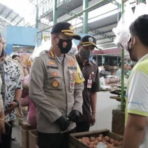 Jelang Nataru, Kapolresta Malang Sidak Harga Sembako di Dua Pasar