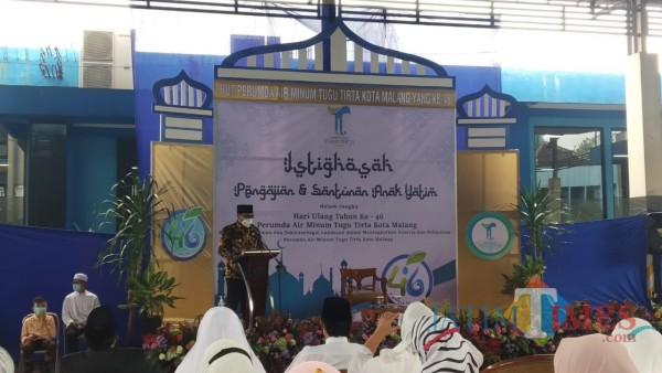 Wakil Wali Kota Malang, Sofyan Edi Jarwoko saat hadir dalam peringatan HUT ke 46 tahun PDAM Kota Malang (Pipit Anggraeni/MalangTIMES).