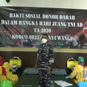 Donor Darah, Kodim 0825 Banyuwangi Kumpulkan 50 Kantung
