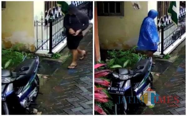 Pelaku saat akan beraksi mencuri motor korban (Anggara Sudiongko/MalangTIMES)
