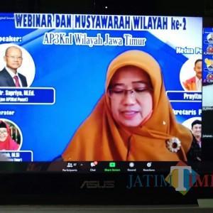 Jawab Tantangan di Era Disrupsi, AP3KnI Jatim Gelar Webinar dan Musyawarah Wilayah II