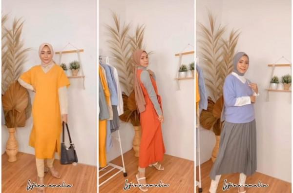 Inspirasi Casual Outfit dengan Aneka Dress Kekinian Ala Hijabers Ijfina Amalia
