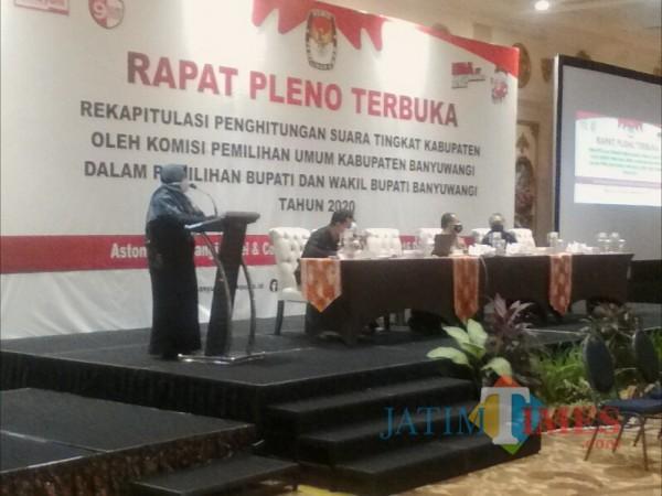 KPU Banyuwangi Mulai Rekapitulasi Hasil Penghitungan Suara Tingkat Kabupaten