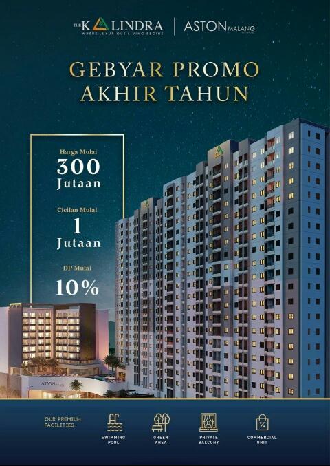 Hidup dengan Fasilitas Hotel Mewah di Apartemen The Kalindra Malang Cukup Rp 1jutaan Per Bulan