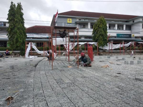 Protret pengerjaan proyek Kayutangan Heritage. (Foto: Istimewa).