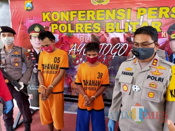 Dua tersangka pencurian diamankan Polres Blitar