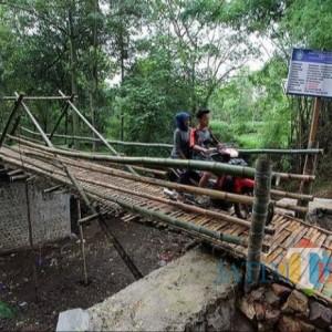 Proyek Jembatan Bambu Rp 200 Juta Viral, Pemkab Ponorogo Beri Penjelasan
