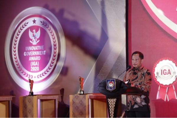 Mendagri, Muhammad Tito Karnavian saat memberi sambutan dalam agenda Penghargaan IGA Tahun 2020 (Foto : Istimewa)
