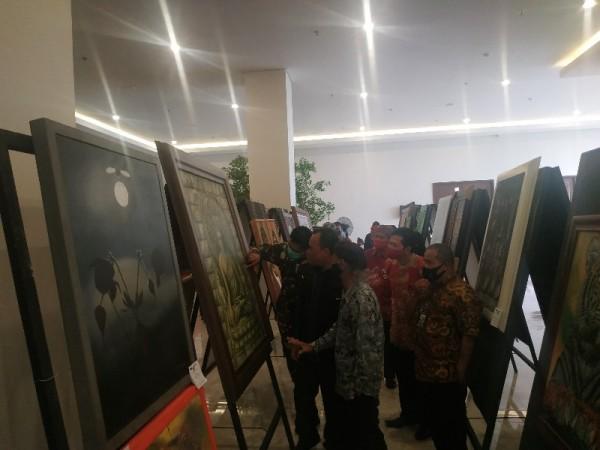 Hadiri Pameran Art In Pandemi, Kadispar Kota Batu Akan Bangun Pusat Kesenian Seluas 3,5 Hektar