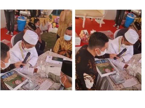 Pernikahan viral pakai ikan cupang (Foto: IG @infobekasi.coo)