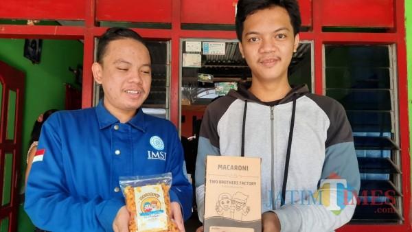 Tetap Produktif di Masa Pandemi, Dua Mahasiswa Kota Kediri Produksi Macaroni