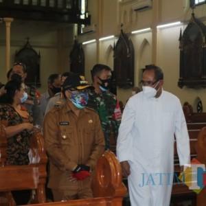 Pantau Prokes Ibadah Natal, Wali Kota Malang Safari Keliling Gereja