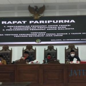 Perubahan Perda Retribusi Umum Kota Malang Disepakati, Legislatif Beri Catatan