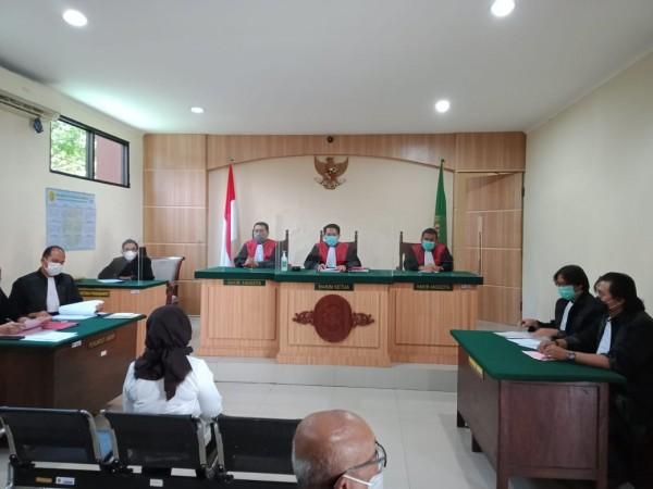 Suasana persidangan kasus money politics Pilkada Kabupaten Malang (istimewa)