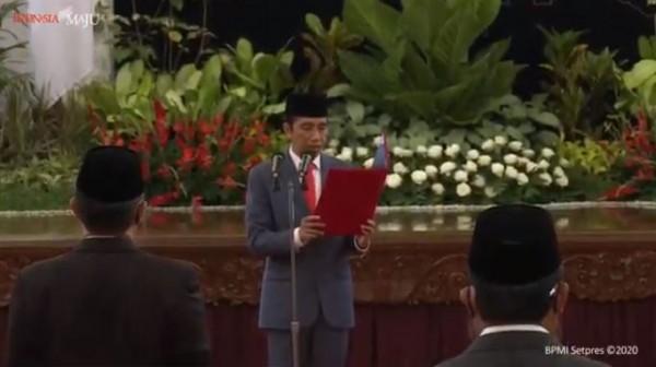 Presiden Jokowi Resmi Melantik 6 Menteri, 5 Wamen, Kepala BNN, dan Kepala BRGM