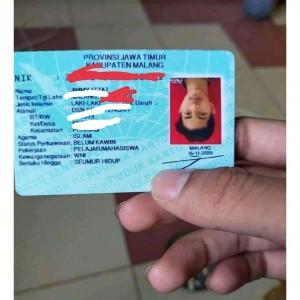 Viral Foto KTP Warga Kabupaten Malang Terbalik, Warganet: Kebalik Seumur Hidup