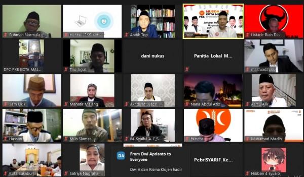 Webinar virtual pra-Musda V PKS Kota Malang. (Foto: Istimewa).