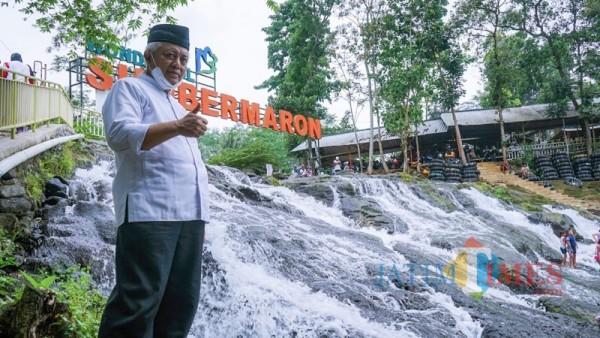 Bupati Malang Sanusi saat meninjau salah satu potensi wisata yang ada di Kabupaten Malang (Foto : Istimewa)