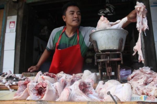 Daging ayam, salah satu komoditi pasar yang terus alami kenaikan harga (Dokumentasi MalangTIMES).