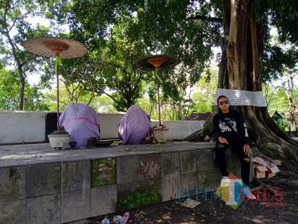 Kunjungan pewarta BLITARTIMES ke situs cagar budaya Keraton Kartasura di Sukoharjo.