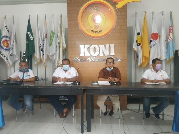 Komite Olahraga Nasional Indonesia (KONI) Kota Batu adakan pers rilis, Senin (28/12/2020)