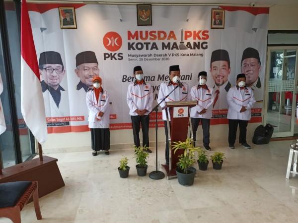 Musda V, Ernanto Djoko Purnomo Kembali Jabat Ketua DPD PKS Kota Malang